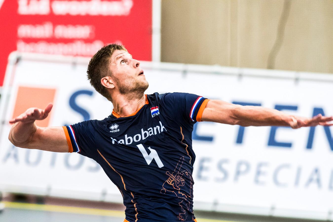 Thijs ter Horst, in actie voor Oranje.