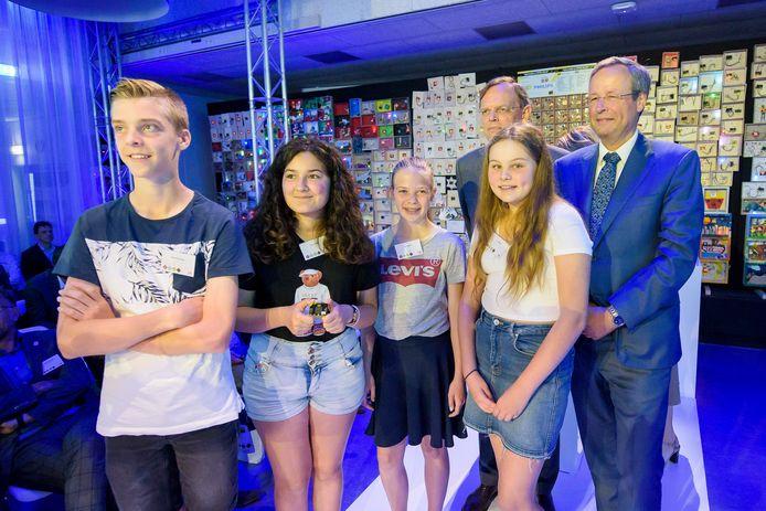 Guido Dierick (r) bij de opening van de Dutch Technology Week door jongeren in 2018.