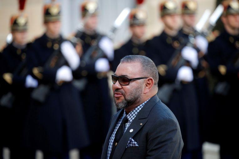 Koning Mohammed VI van Marokko komt Europa tegemoet door jonge Marokkaanse migranten voortaan terug te nemen. Beeld REUTERS