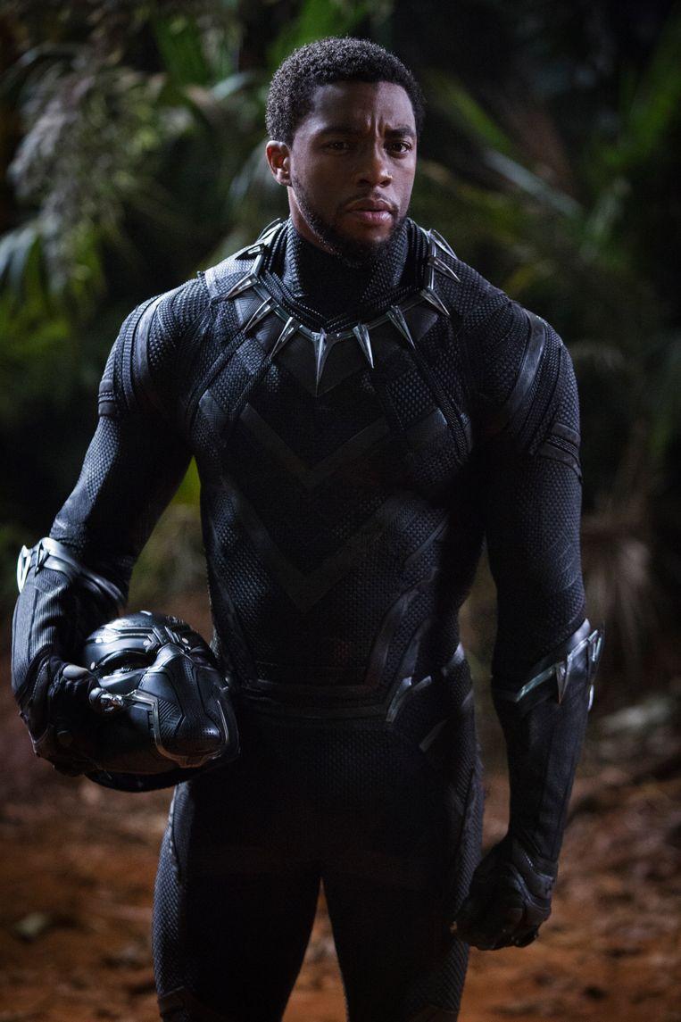 Chadwick Boseman in 'Black Panther'. Beeld rv
