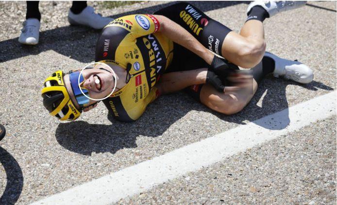 Gijs Leemreize is hard gevallen in de eerste etappe van de Ronde van Burgos.