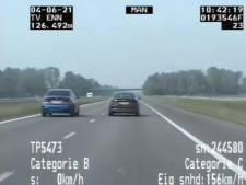 'Wedstrijdje' hardrijden op A7 blijkt snelheidsmeting
