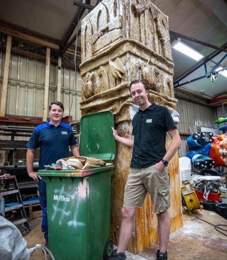 Afvalmonument van Blaanke Boeskeulkes uit Oldenzaal moet zorgen voor schoner Hulsbeek