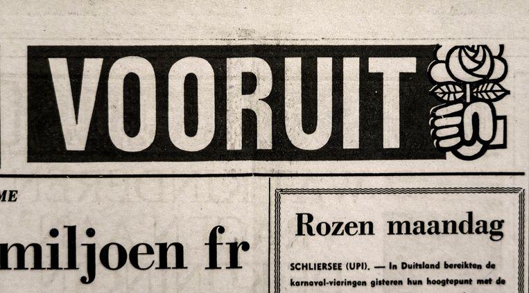 Dagblad Vooruit, een tentoonstelling in Gent over de voorloper van 'De Morgen'. Beeld © Eric de Mildt