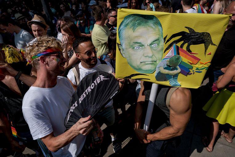 De Budapest Pride van afgelopen weekend was 'historisch belangrijk', schrijft Akbas.  Beeld Getty Images