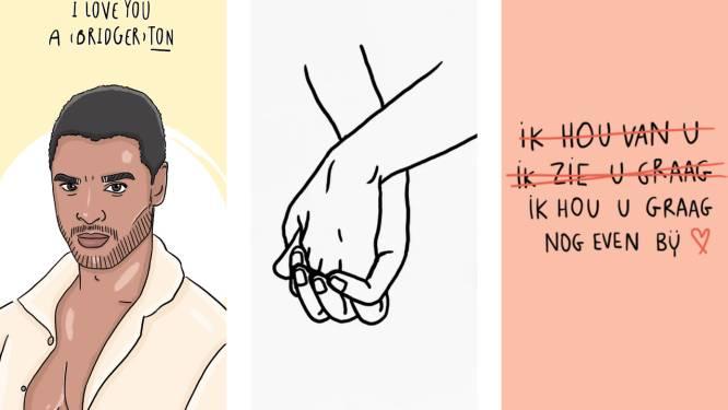15 originele valentijnskaarten van Belgische makelij om je lief, vriend(in) of knuffelcontact te verrassen