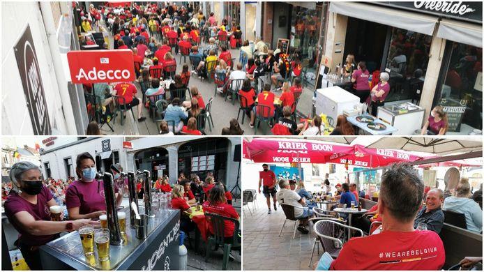 Supporteren in coronatijden tijdens het EK in Halle.