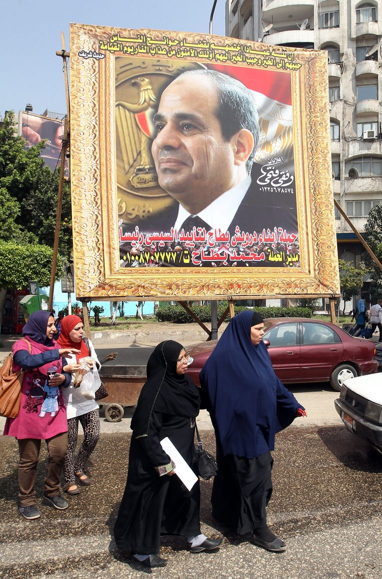 Voorstander van presidentskandidaat Marshal Abdel Fattah al-Sissi.