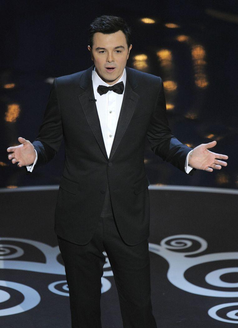 Oscars-presentator Seth MacFarlane. Beeld AP