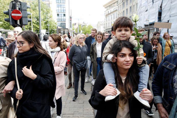 Illustratiebeeld. Op 12 mei werd een mars voor de vermoorde Julie Van Espen gehouden in Antwerpen.