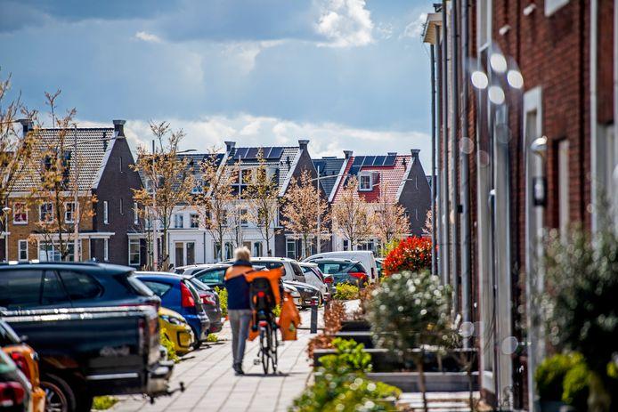 Beeld van het Koningskwartier in Zevenhuizen.