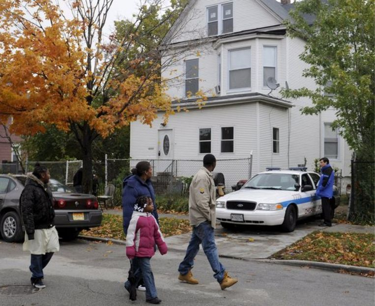 Het ouderlijk huis van Jennifer Hudson. Foto EPA/Tannen Maury Beeld