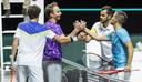 Mate Pavic en Nikola Mektic winnen hun partij van Robin Haase en Matwe Middelkoop.