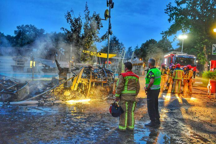 Camper op camping in Soerendonk verwoest door brand.