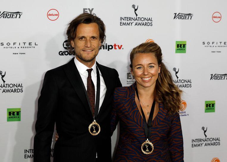 Tim Van Aelst en Sofie Peeters. Beeld EPA