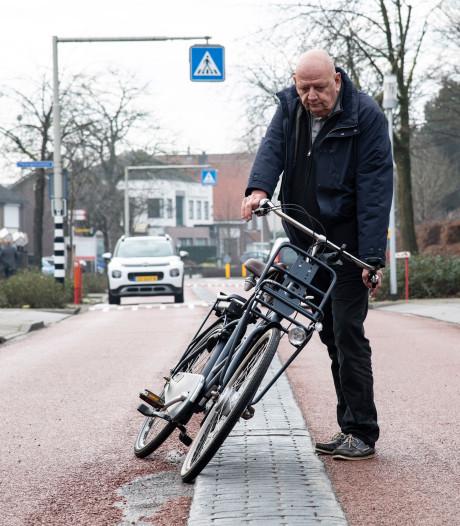 Wijkraad Lent eist direct aanpak gevaarlijke middenberm fietsstraat