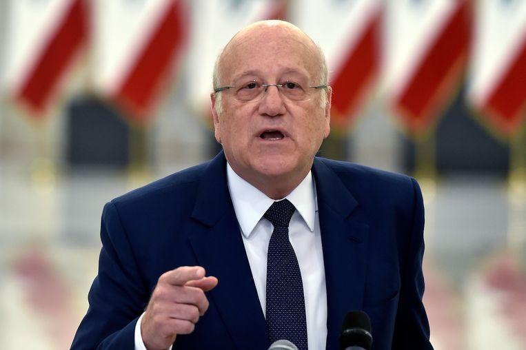 De Libanese miljardair Najib Mikati is benoemd tot kandidaat-premier van Libanon.  Beeld EPA