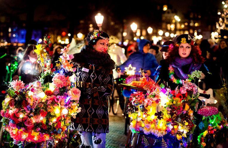 Vorige editie van de lichtjesparade Beeld anp