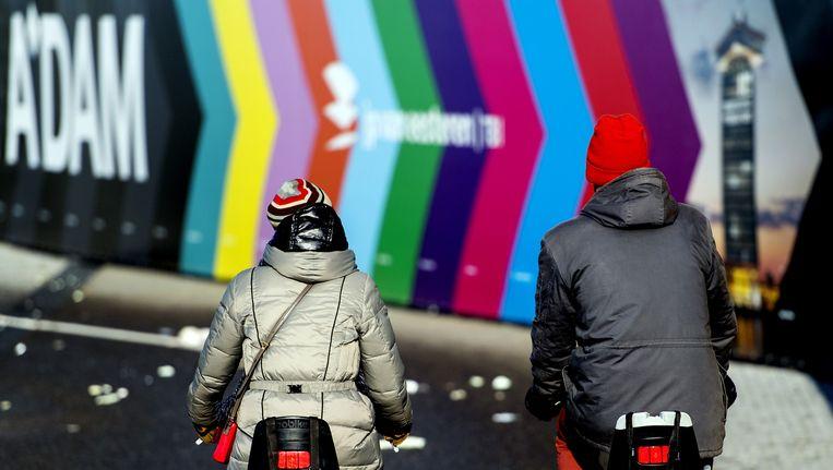 In Amsterdam werd code geel afgegeven vanwege ijzel Beeld ANP