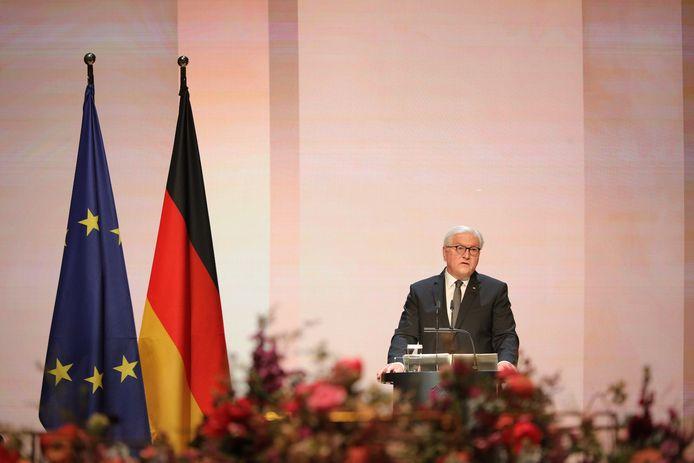 President van Duitsland Frank-Walter Steinmeier tijdens de herdenkingsdienst