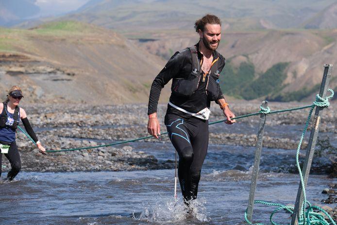 Steve Kane tijdens de Laugavegur Ultra Marathon in IJsland.