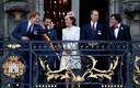 Harry, Kate en William tijdens hun bezoek aan België in 2014, samen met toenmalig premier Di Rupo. William hield zich bezig met de diplomatieke gesprekken, terwijl Harry en Kate het samen erg naar hun zin hadden.