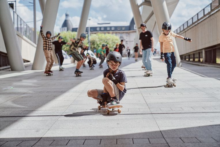 Terwijl vroeger vooral repressie heerste, stellen tegenwoordig steeds meer steden zich open voor skateboarden. Beeld Thomas Sweertvaegher