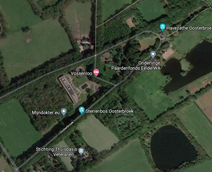 Het incident vond plaats aan de Oosterbroek in Eelde.