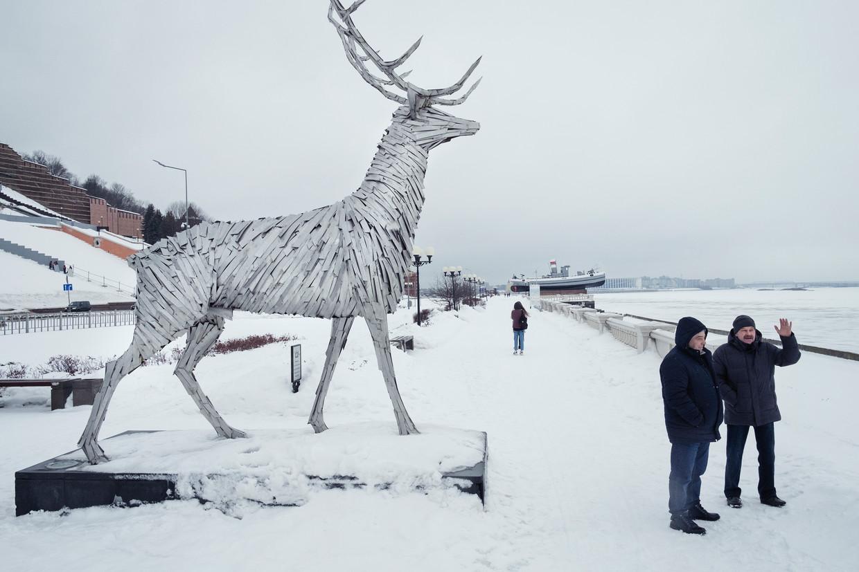 In Nizjni Novgorod, de op vier na grootste stad van Rusland, is de bereidheid te demonstreren tegen Poetin ook groot. Beeld Arthur Bondar