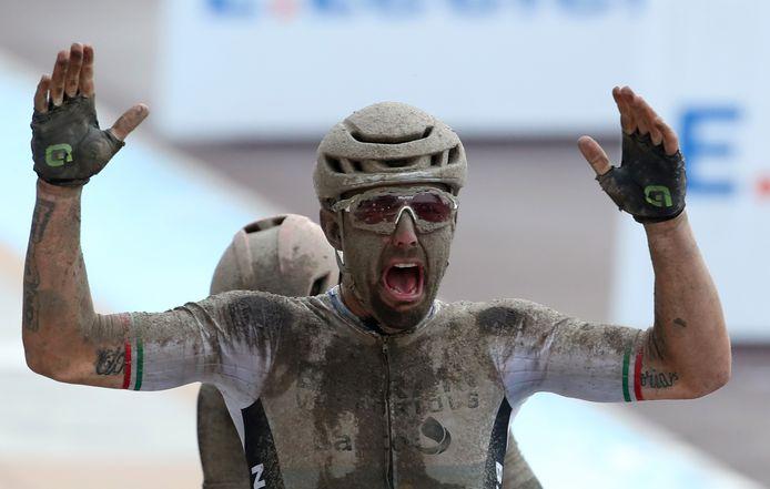 Sonny Colbrelli, winnaar van Parijs-Roubaix