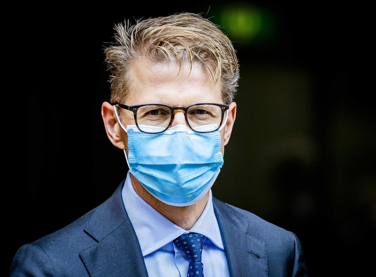 Sander Dekker, minister voor Rechtsbescherming, na afloop van de wekelijkse ministerraad.