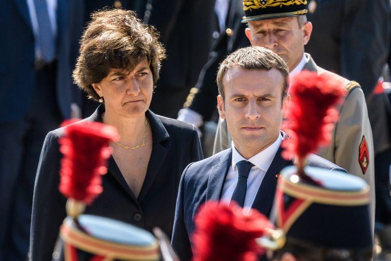 Macron samen met zijn vertrouwelinge Sylvie Goulard in 2017.