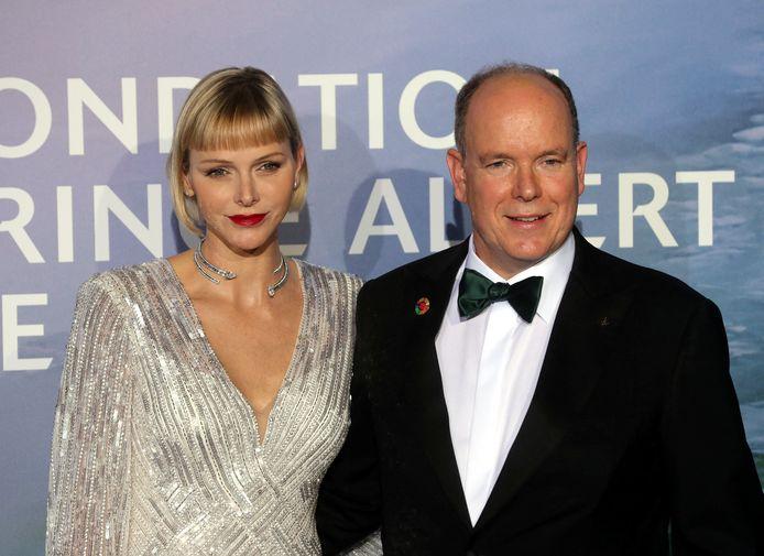 La princesse Charlène et le prince Albert II de Monaco