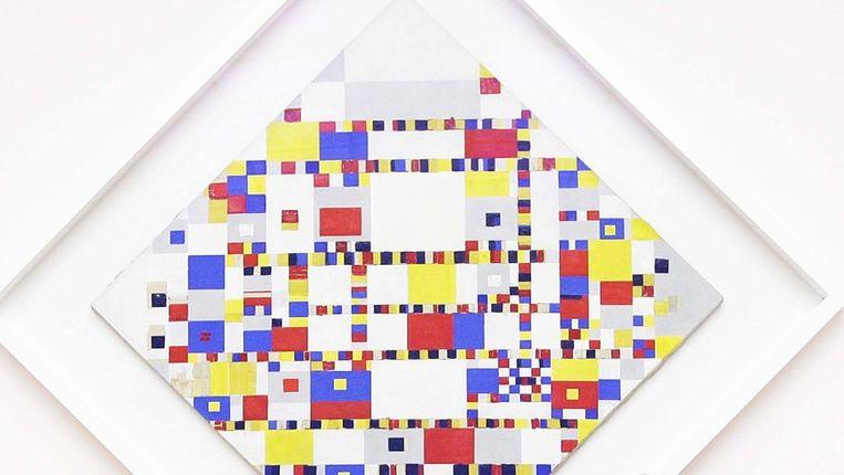 Victory Boogie Woogie van Piet Mondriaan in het Gemeentemuseum in Den Haag. © ANP Beeld