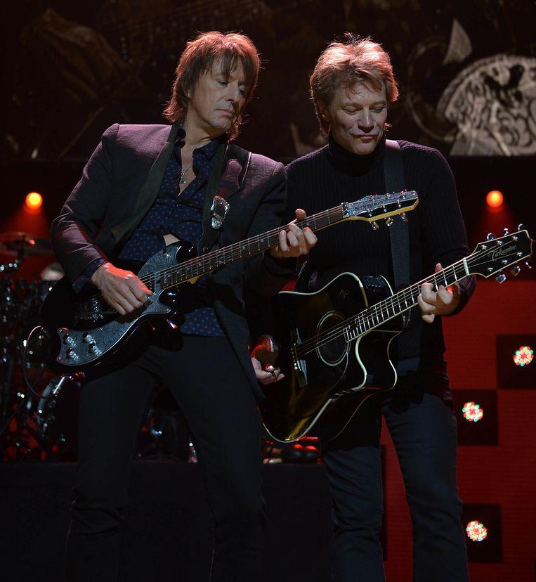 Richie Sambora en Jon Bon Jovi. Beeld GETTY