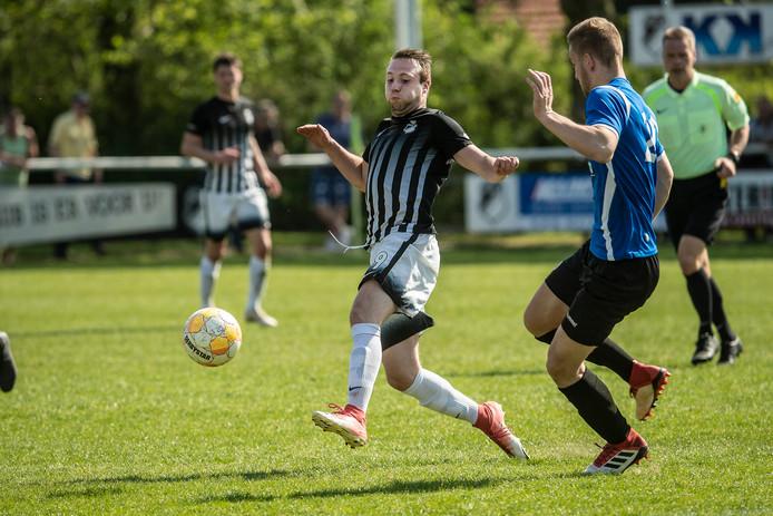 Kelvin Meijer scoorde voor Silvolde.