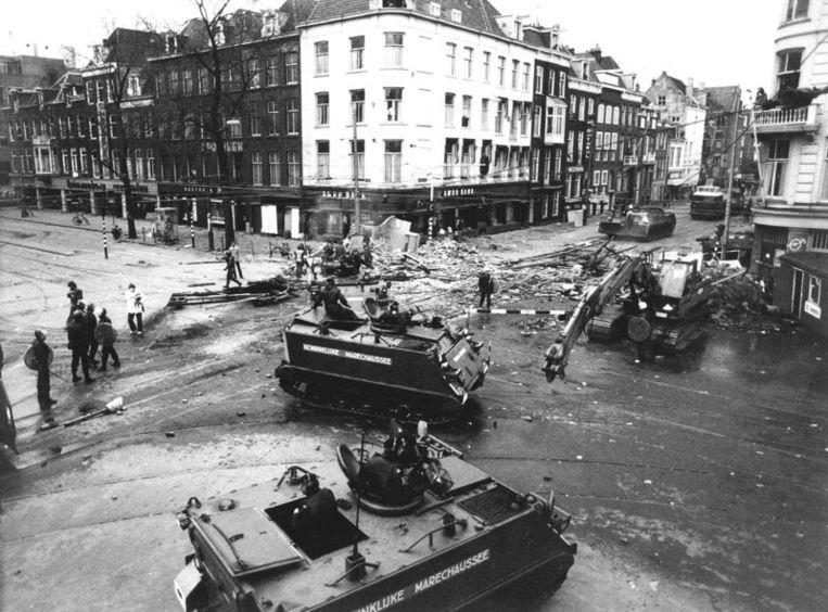 Ontruiming in de vondelstraat, 1980. Foto ANP Beeld