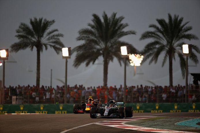 Lewis Hamilton en Max Verstappen.