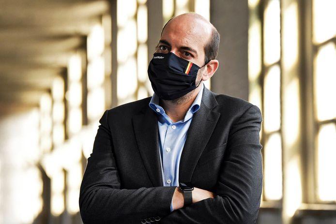 Le secrétaire d'État à la Digitalisation et la Protection de la vie privée, Mathieu Michel (MR).