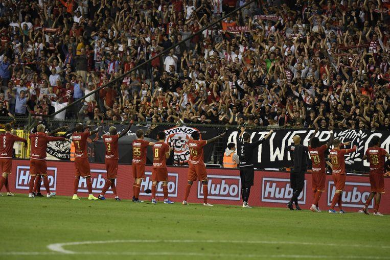 Antwerp zal moeten juichen voor een lege tribune.  Beeld Photo News