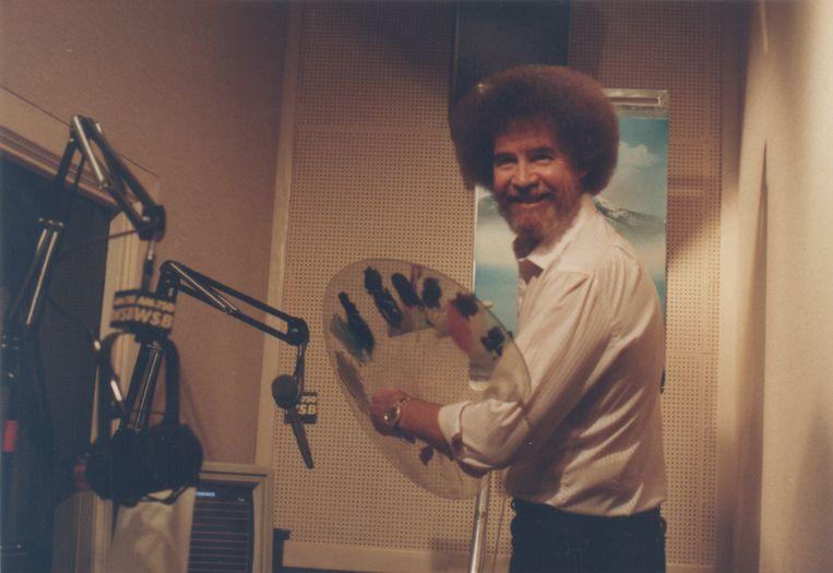 Bob Ross in de studio, ca. 1989. Beeld Bob Ross Inc.