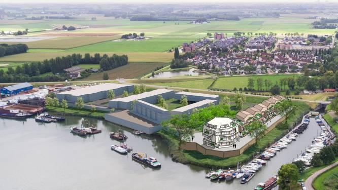 Streep door bouw honderd woningen naast de rivier in Woudrichem om Waterlinie te beschermen