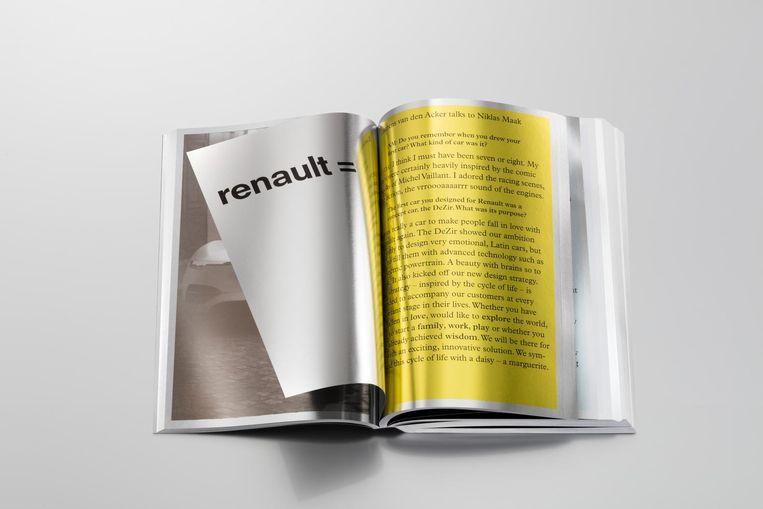 Het boek dat topontwerper Irma Boom maakte naar aanleiding van de presentatie van de nieuwe Renault TReZor. Beeld Gerrit Schreurs
