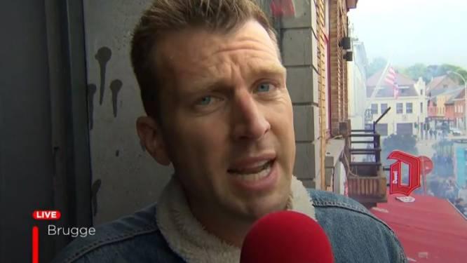 Club-fans gooien bier en blikjes naar VTM-journalist tijdens live-interventie
