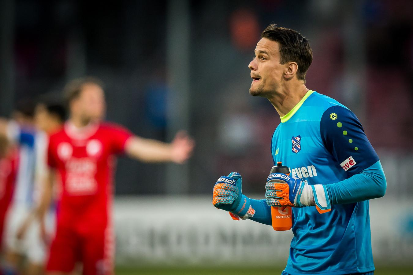 Van der Steen in het shirt van Heerenveen