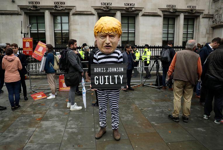 Een demonstrant bij het Supreme Court. Beeld AP