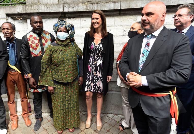 Premier Sophie Wilmès woonde een plechtigheid in Elsene bij ter gelegenheid van de 60ste verjaardag van de onafhankelijkheid van de Democratische Republiek Congo. Beeld Photo News
