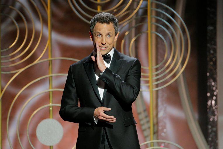 Seth Meyers als host van de Golden Globe Awards, januari 2018. Beeld REUTERS