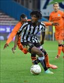 Clinton Mata bij zijn debuut met Charleroi (2014)