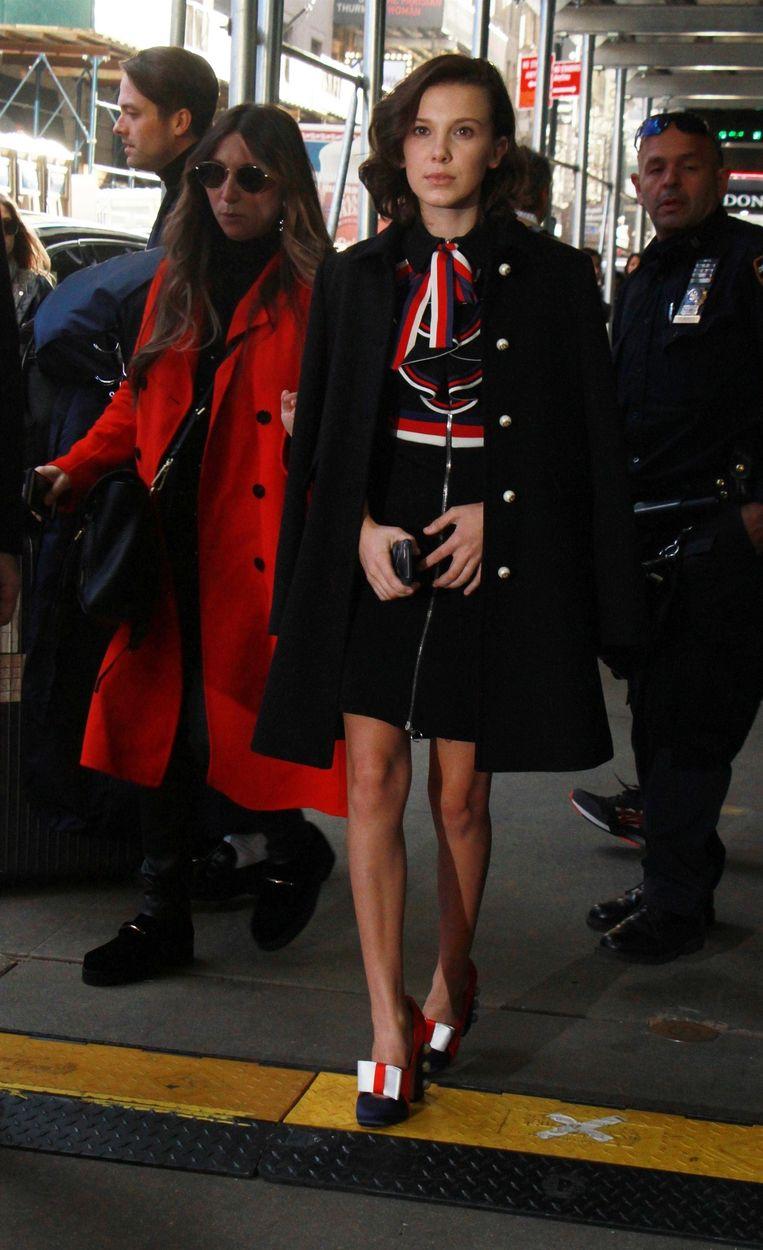 In een full outfit van Gucci.